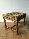 Louis XIII style Small tabouret in walnut, french