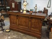 Brasserie counter in wood, french late XIXth