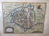 Map of the city of Aalst in hpaper, flemish 16th